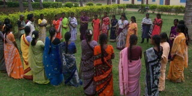Training conducted at field level for leaders at Chamarajanagara