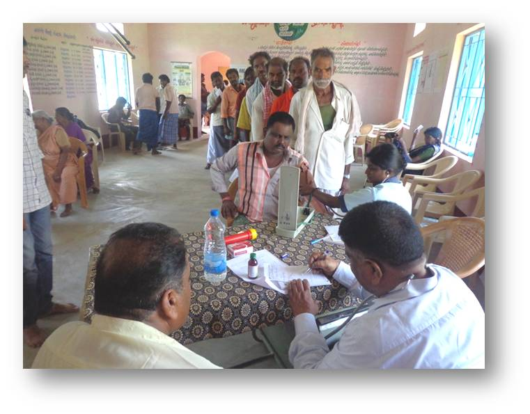 Health Camp at Kothanur benefiting 185 members