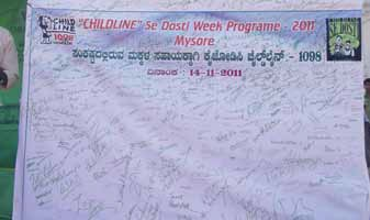 CHILDLINE SE DOSTI WEEK PROGRAM-2011 - ODP_Mysore