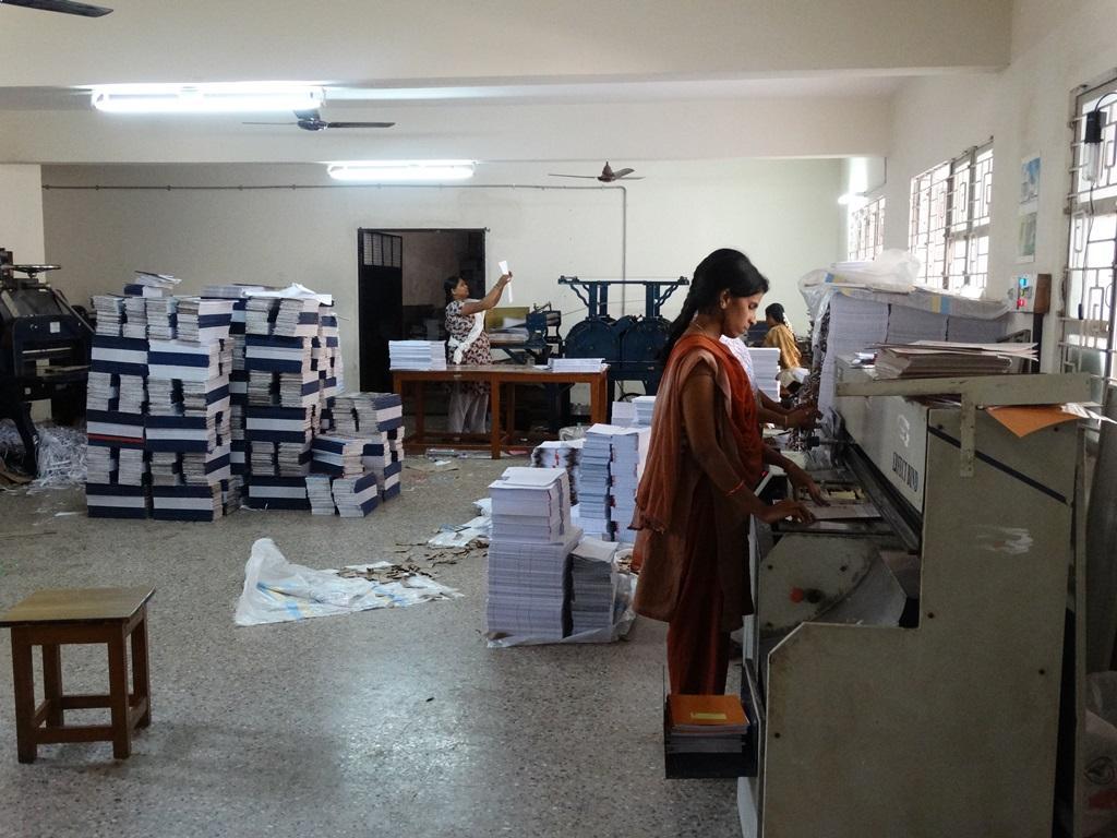 Book making unit at ODP