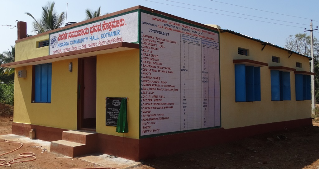 Community Hall constructed at Kothanur