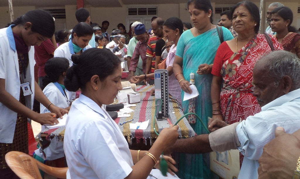 Health camp for SHG members and faremers at Somwarpete