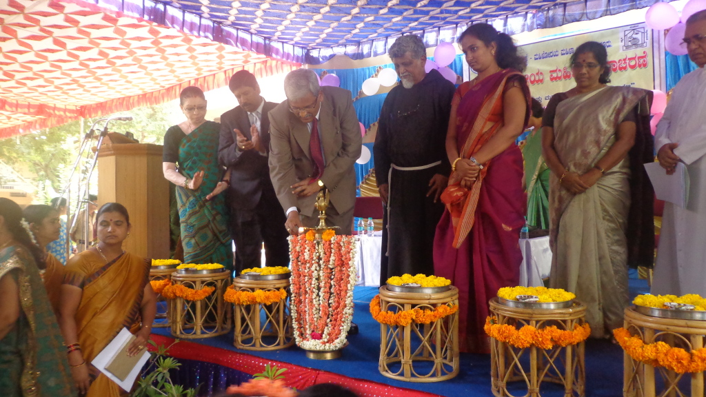 International Womens Day 2013 Mr. Mohan Sripadha Sankoli, District Judge of Mysore Inagurating the program
