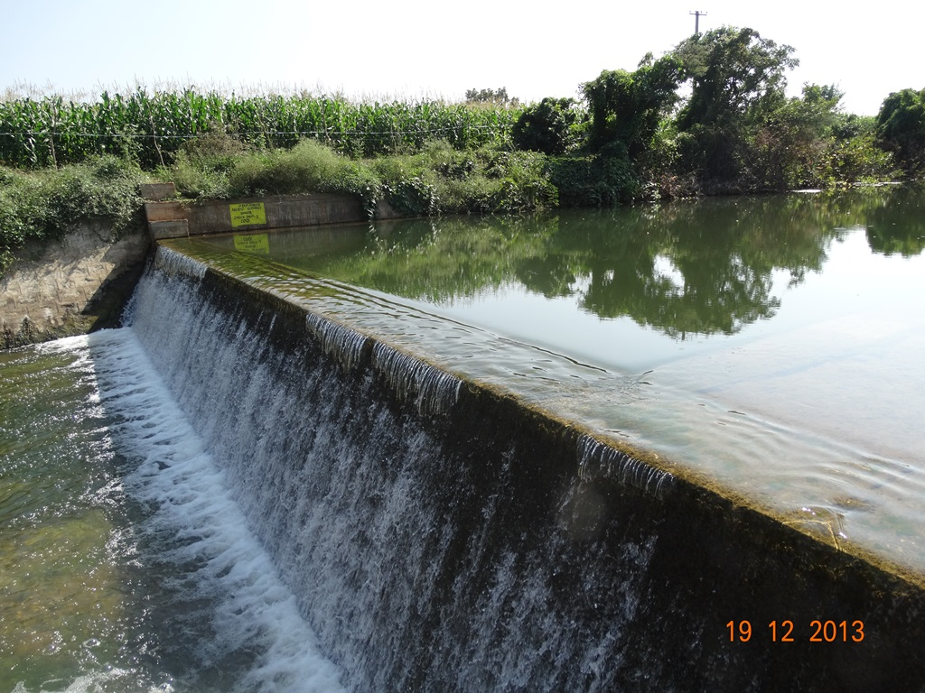 Rain water harvested in check dam at Banoor