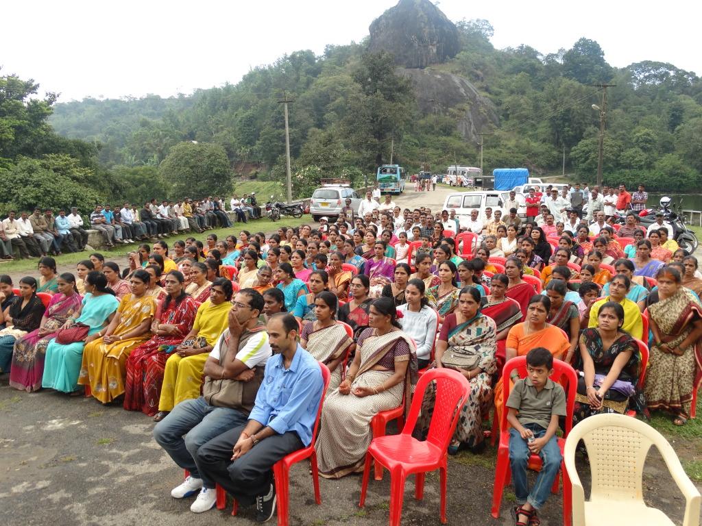 SHG members gathering at CGM visit at Somwarpete
