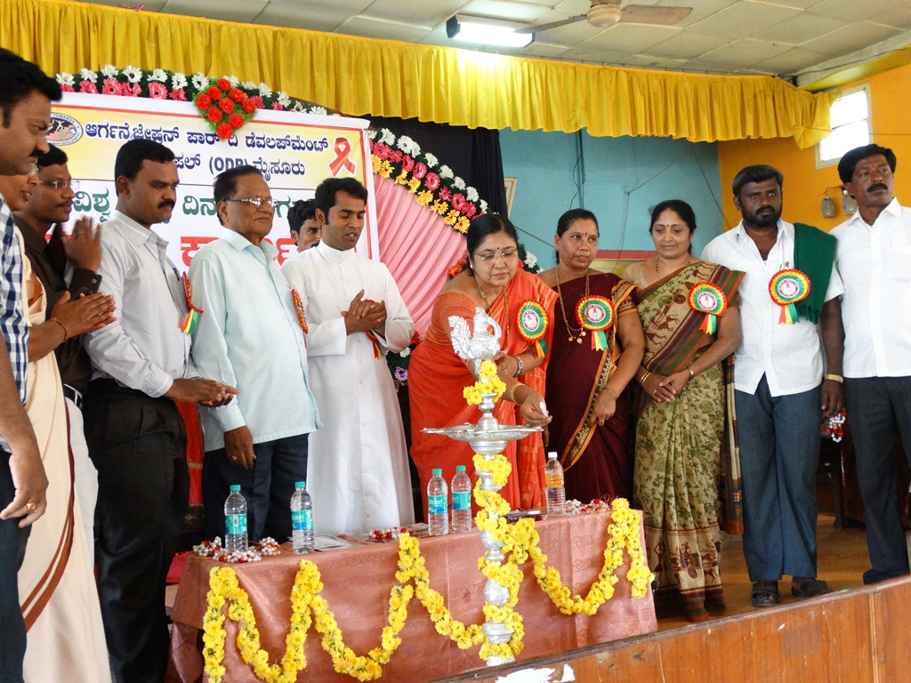 World AIDS day 2013 at Mandya